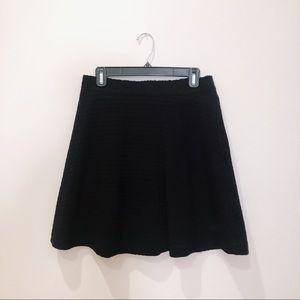 sandro black skater skirt